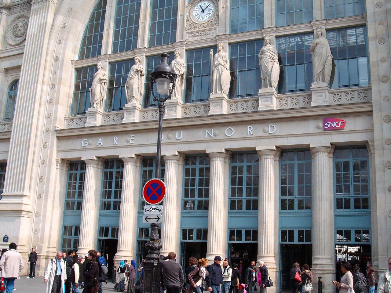 Main facade of Gare du Nord