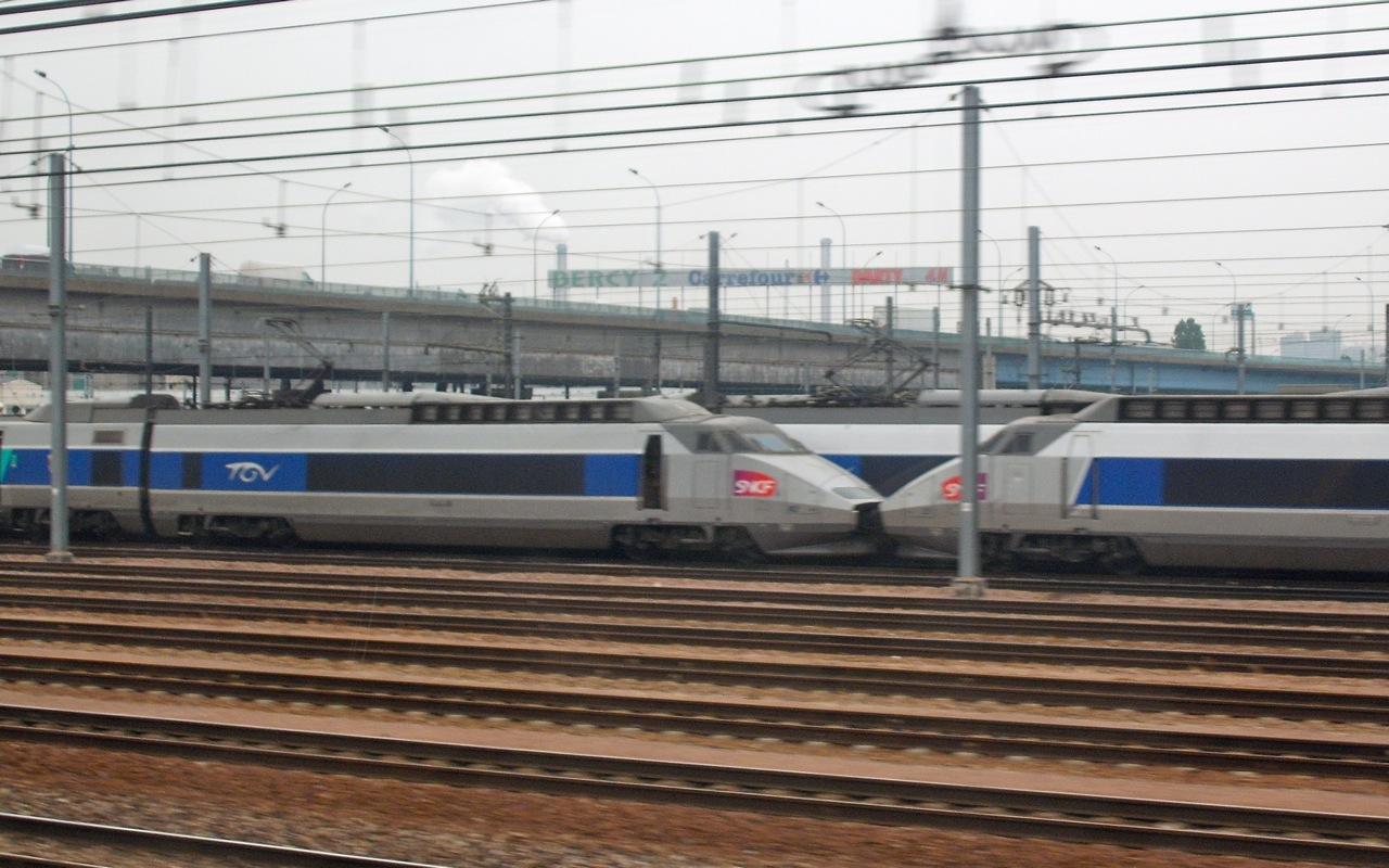 TGVs Parked 1