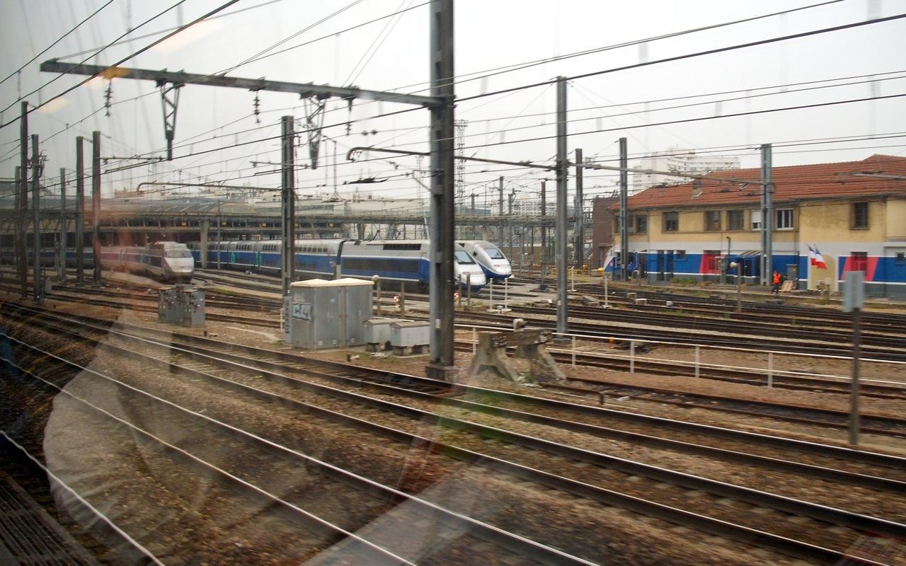 TGVs Parked 2