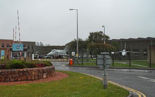 Entrance to RAF Leuchars