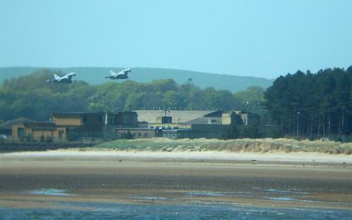 2 Typhoons taking off at RAF Leuchars