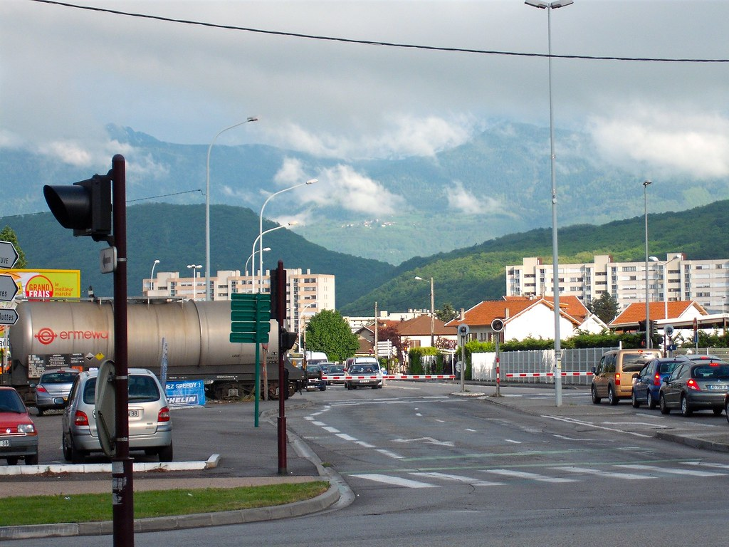 Freight train near hostel